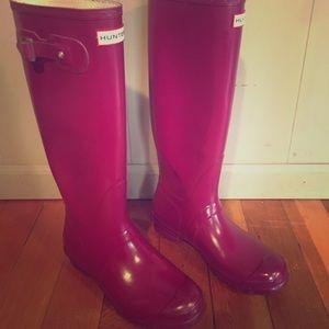 Hunter Original Tall Rain Boots- Size 9